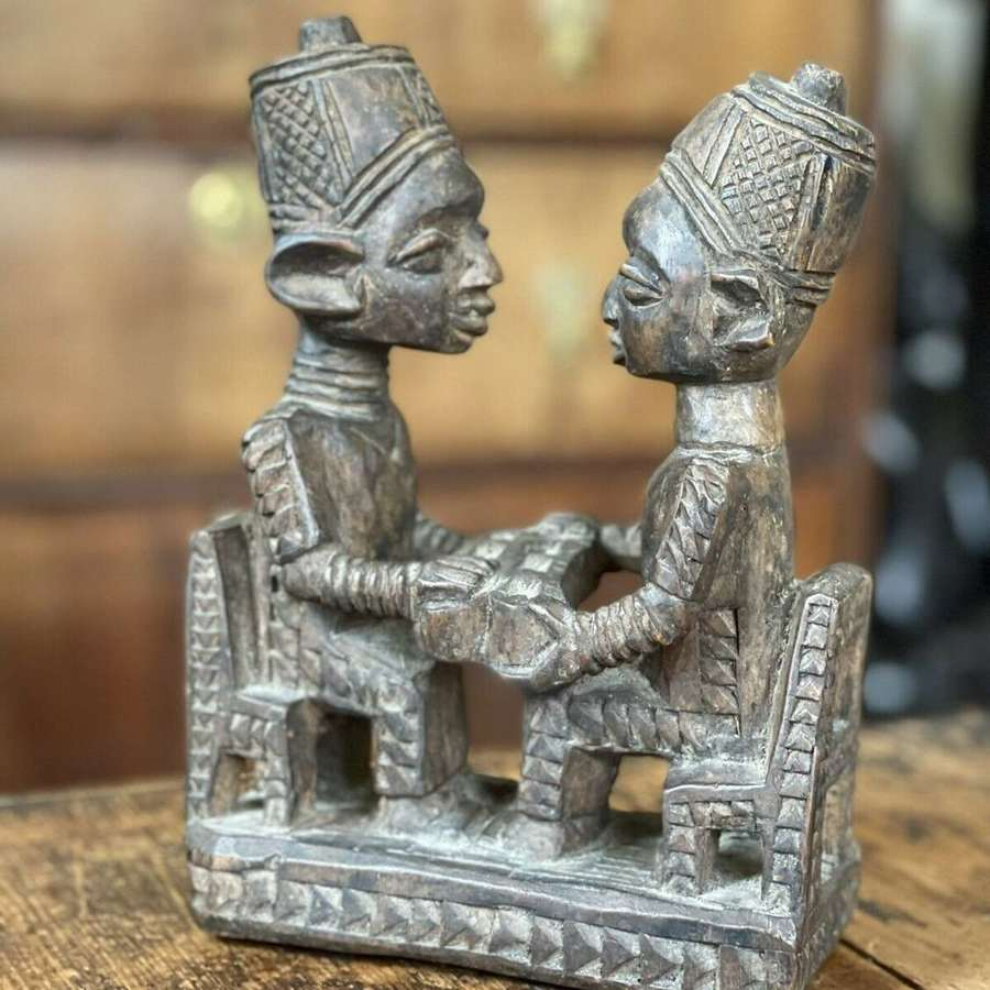 Antique Benin carved sculpture