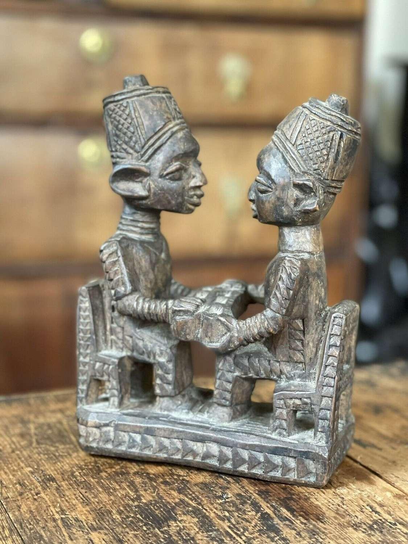 Antique Benin carved sculpture