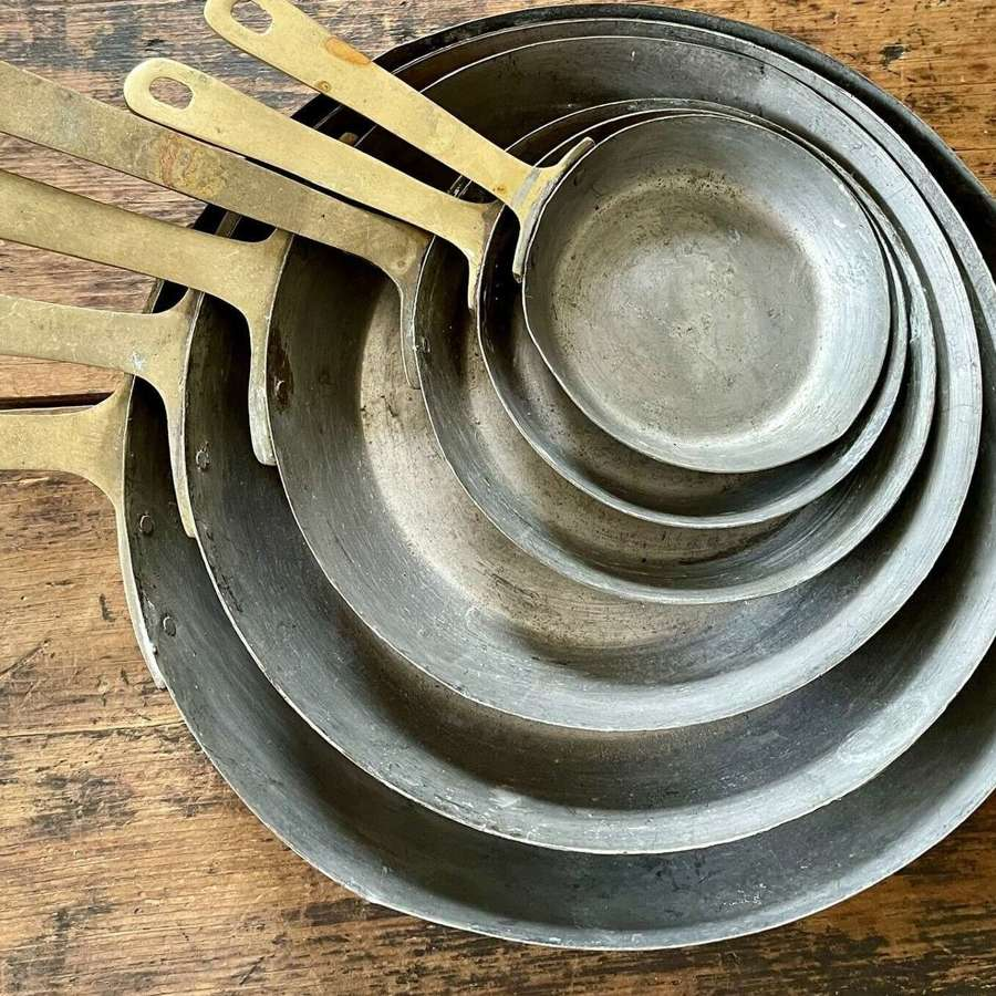 French copper skillet set