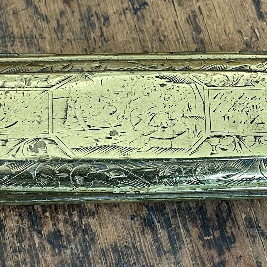 Dutch tobacco tin circa 1760
