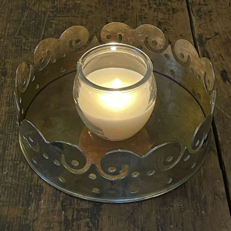 Brass crown candle holder