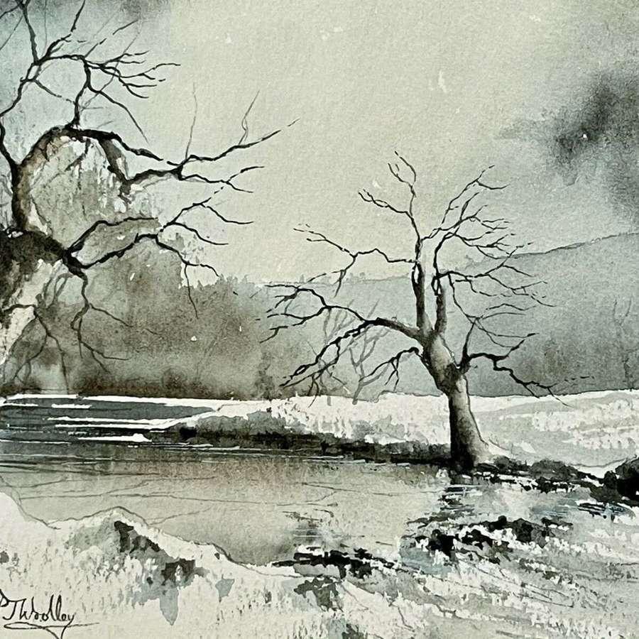 Peter Woolley Monsal Dale Derbyshire Watercolour
