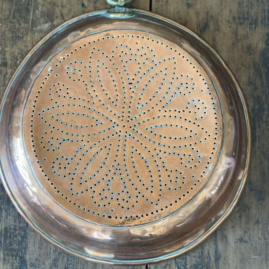 19th Century copper colander