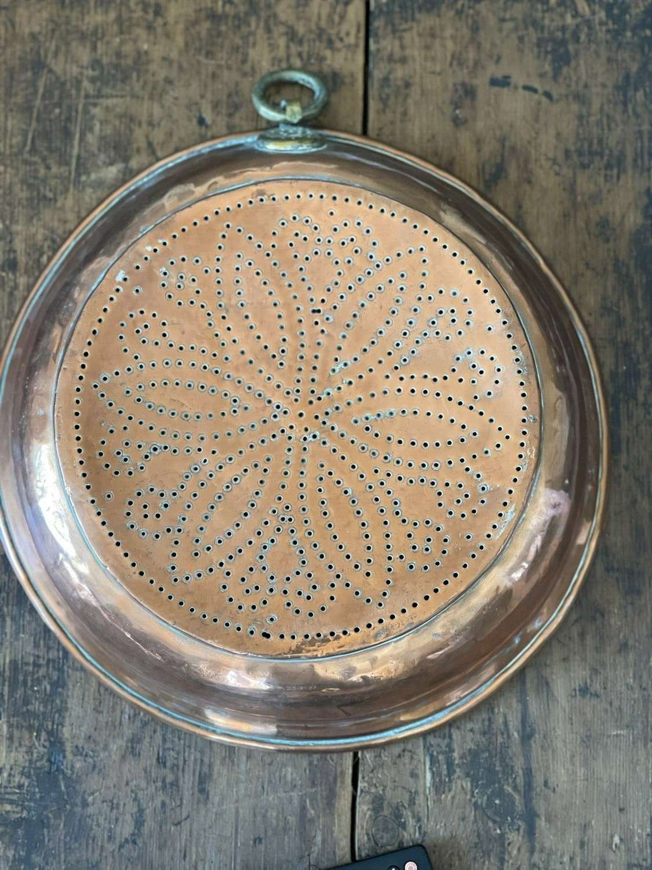 19th Century copper colander