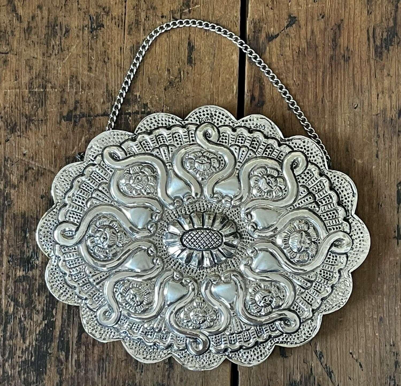 Turkish silver wedding mirror
