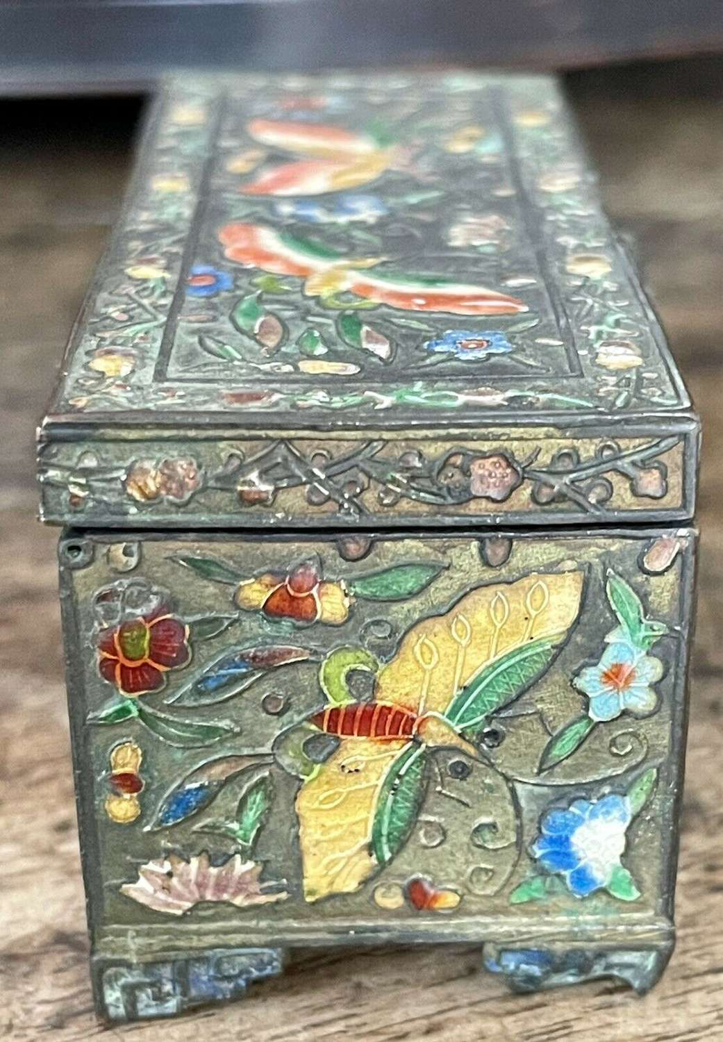 Enamel chinese stamp box circa 1900