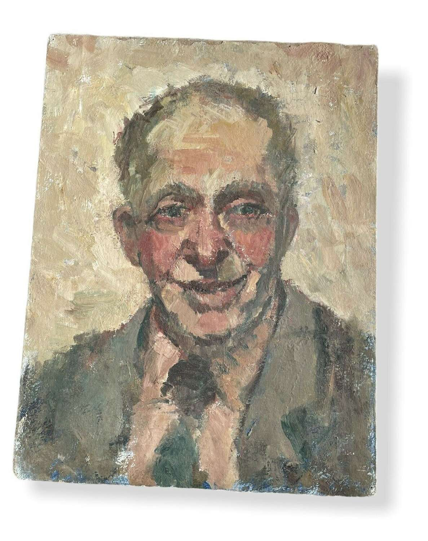 Vintage portrait painting On Canvas