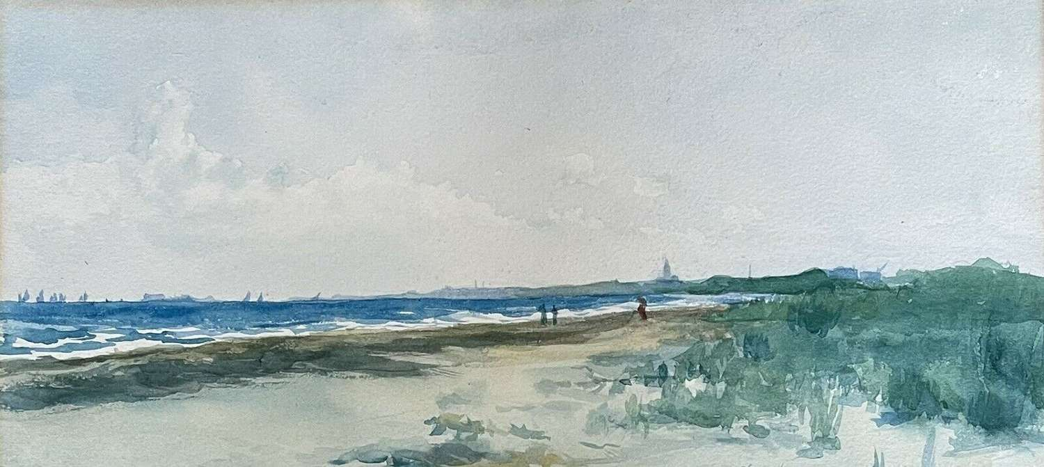 Watercolour Painting Venice Lido By Robert Andrews.