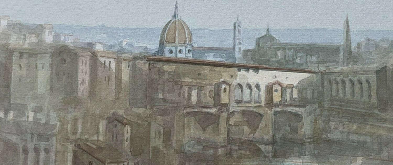 Ponte Vecchio Florence Italy Watercolour