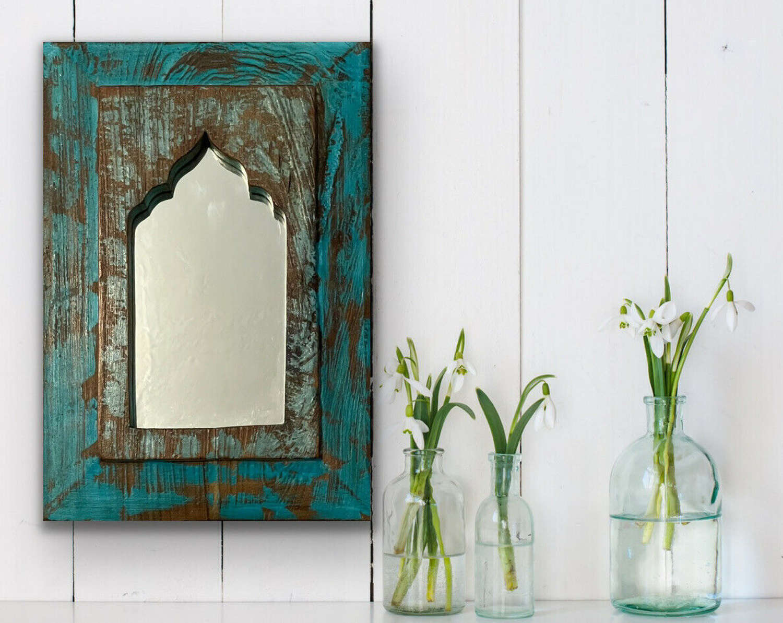 Bohemian reclaimed mirror.