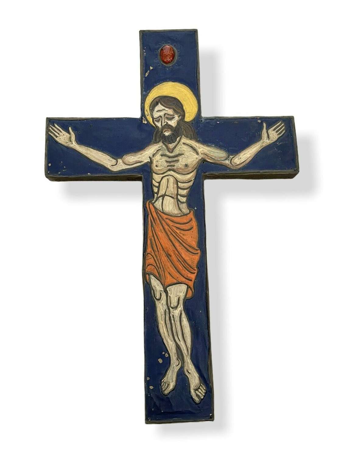 Arts and Crafts stylised crucifix
