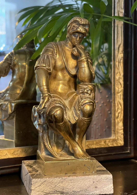 Laurent de Medici brass sculpture