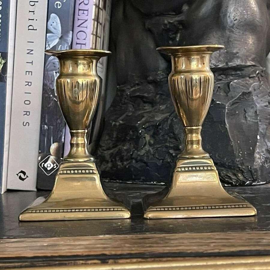 Regency brass candlesticks