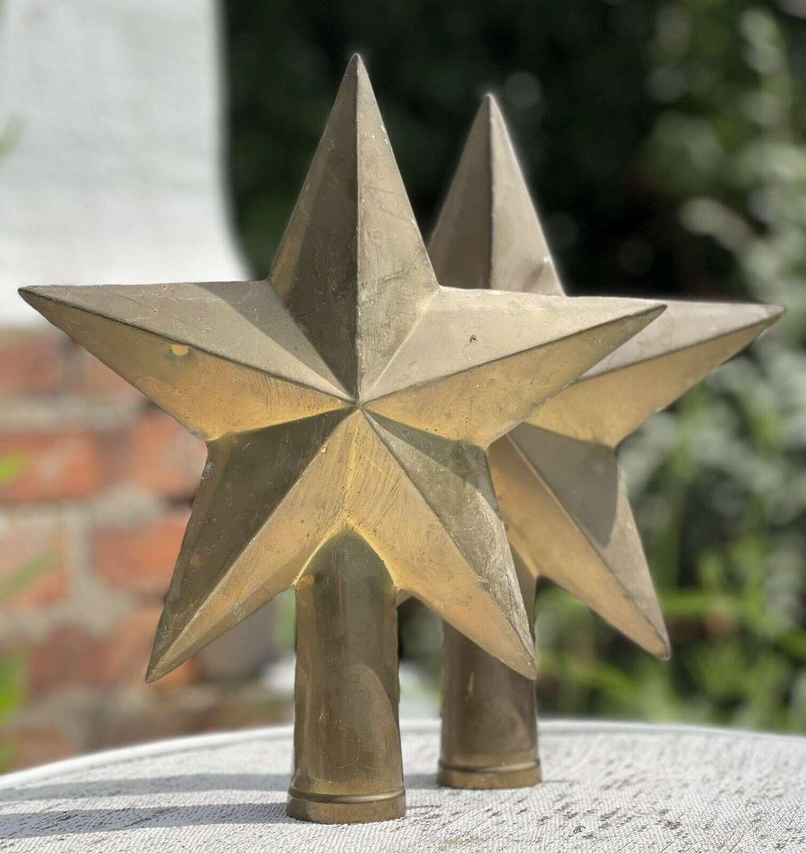 Antique brass stars