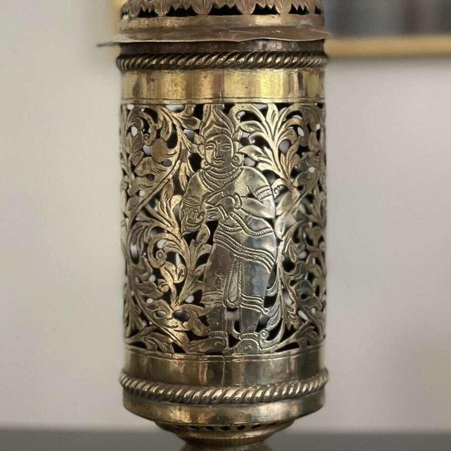 Thai brass lamp base