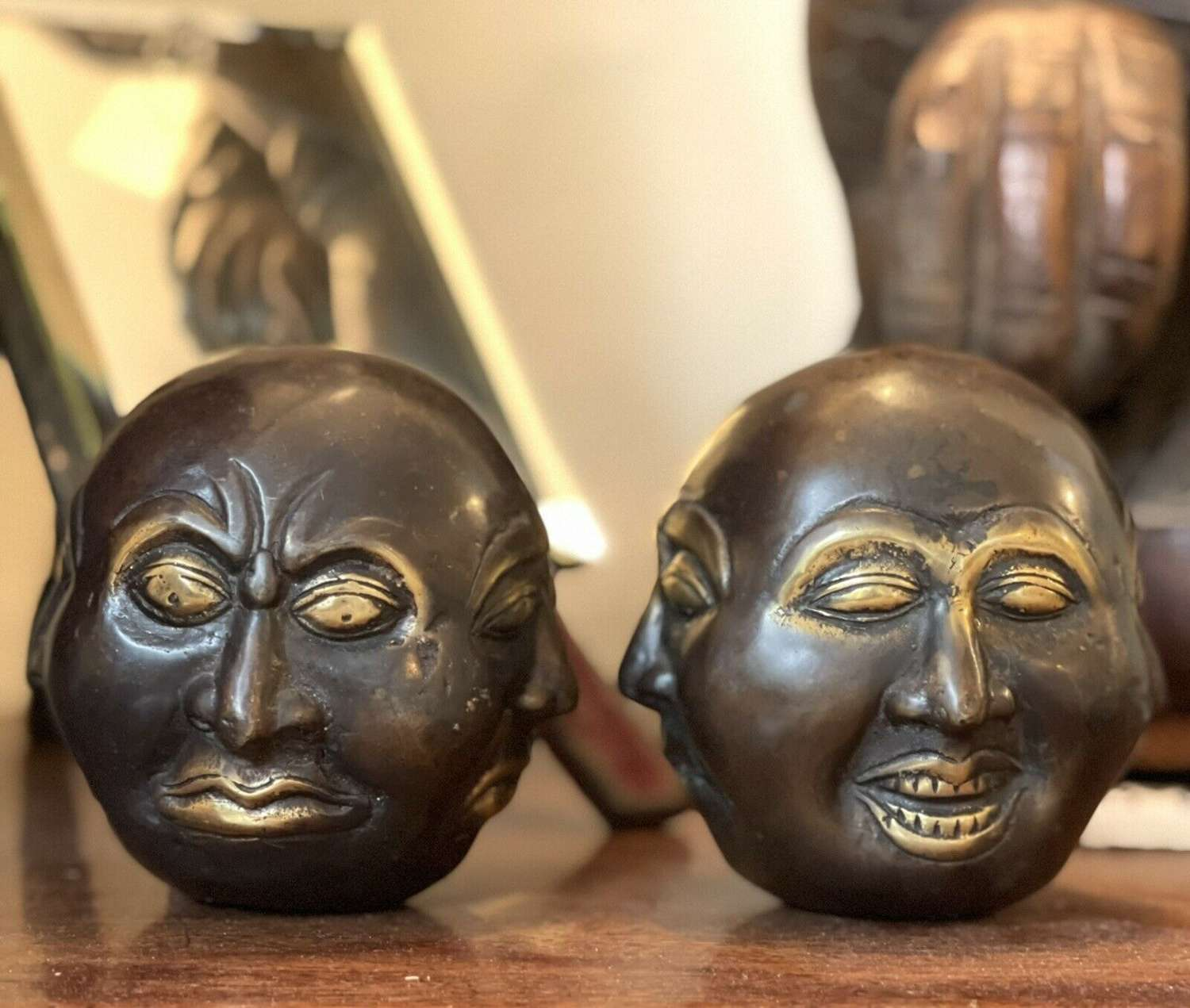Four faced Chinese good luck Buddhas