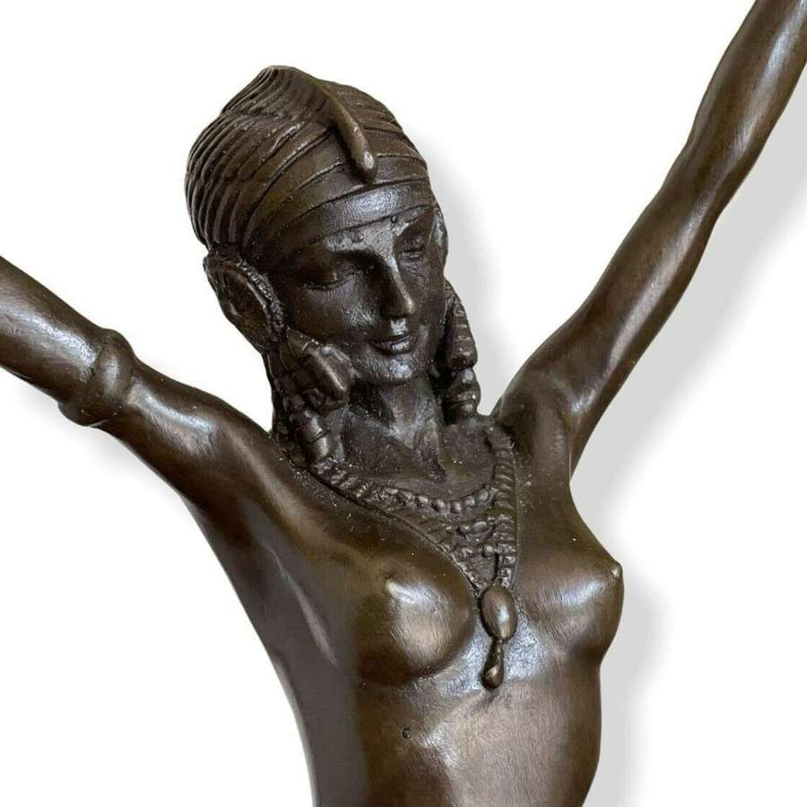Egyptian style Bronze dancer after DH Chiparus.JB Deposee Paris