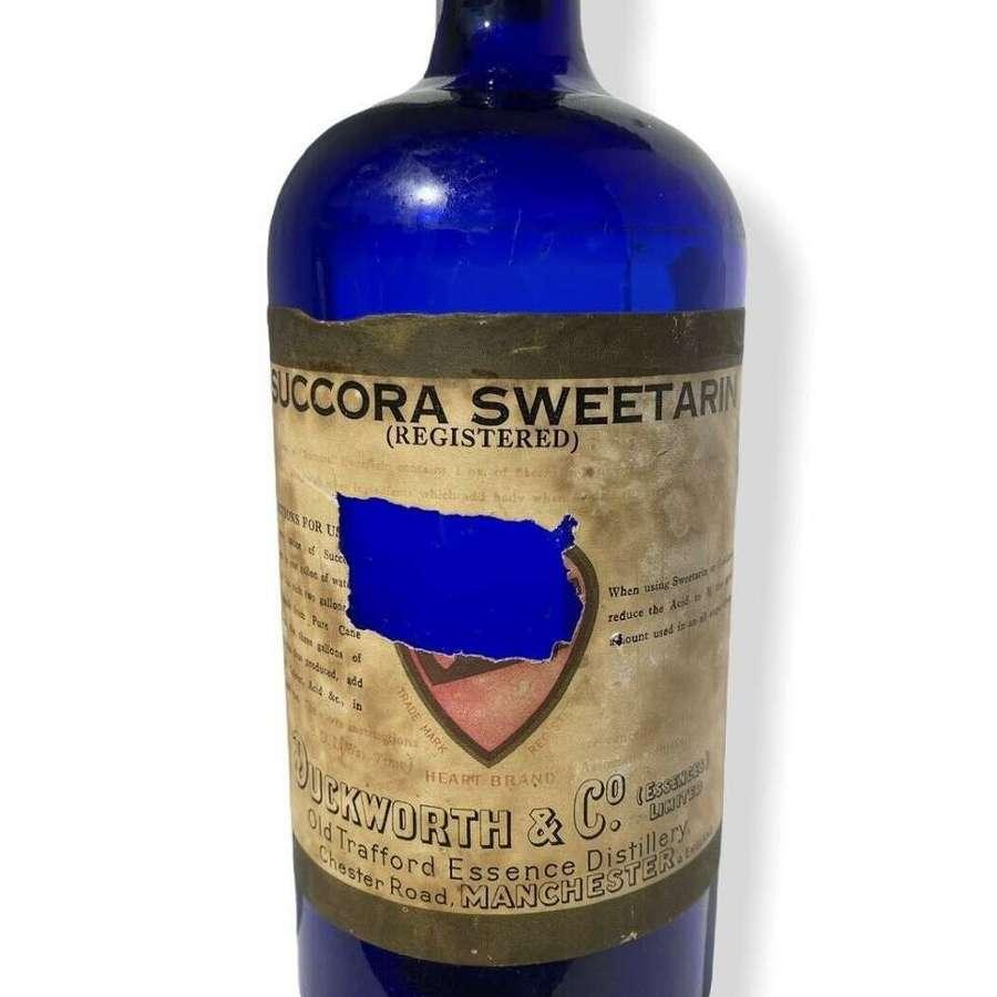 "Duckworth & Co Manchester Bottle "" Succora Sweetarin""."