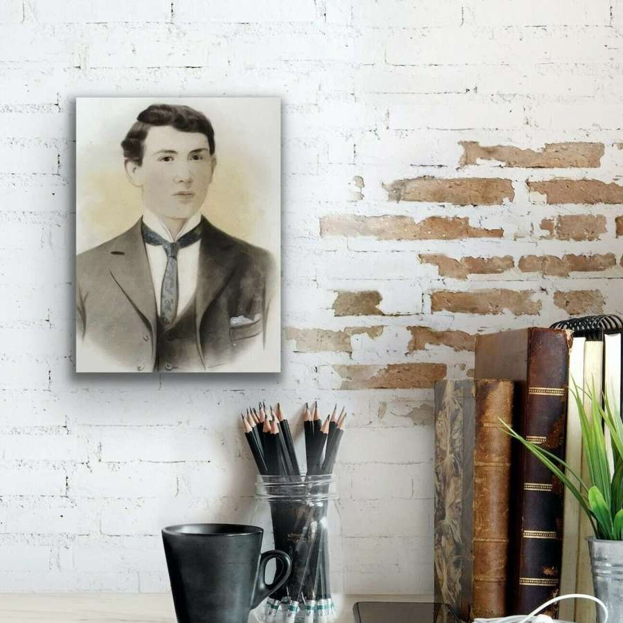 Portrait of a Gentleman on glass