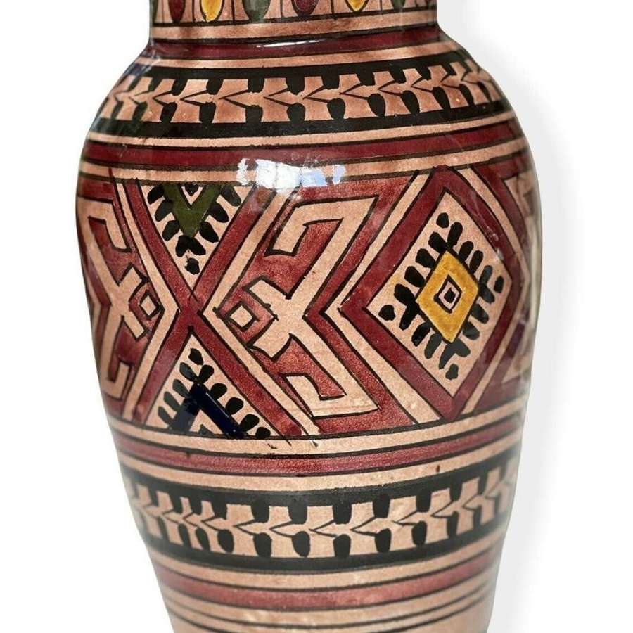 Vintage Moroccan Safi Art Pottery vase
