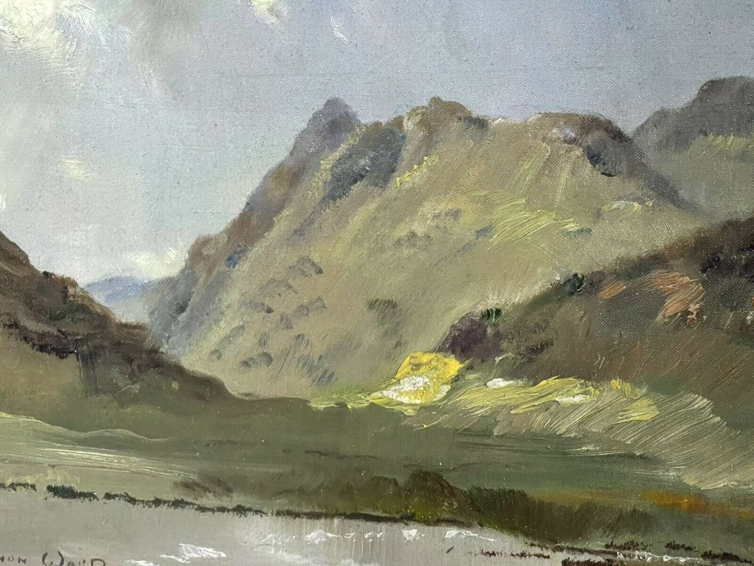 Original painting By Vernon Ward Cumbrian Mountains