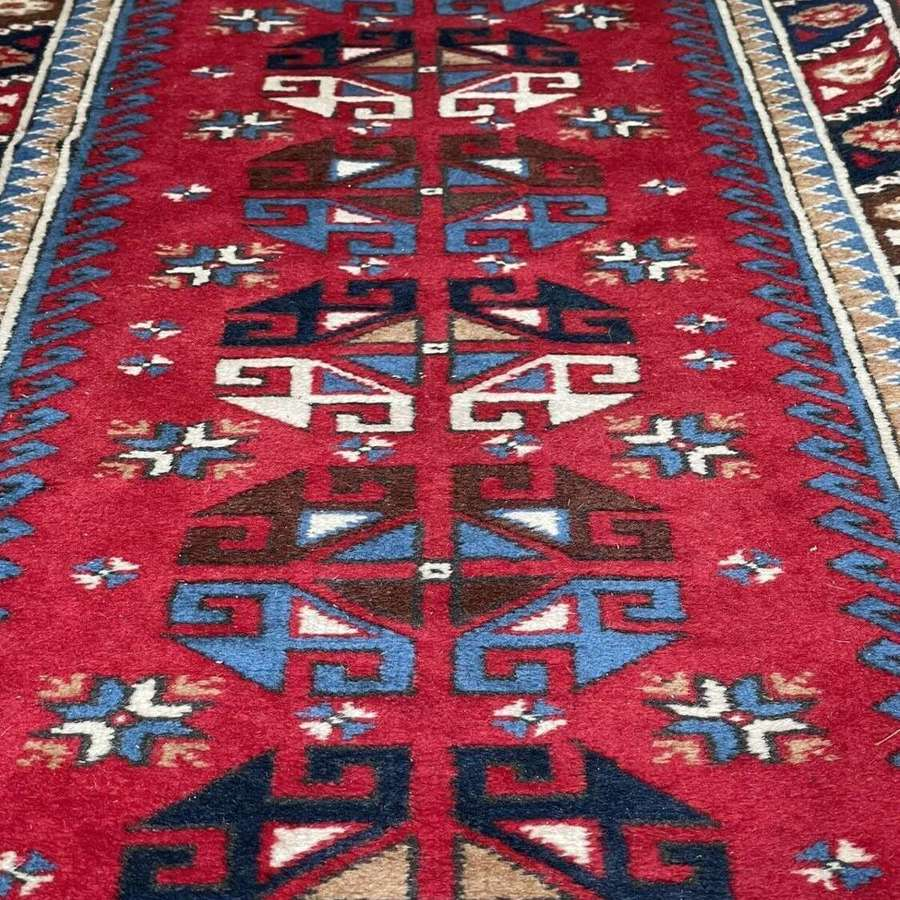 Vintage Persian hand knotted runner