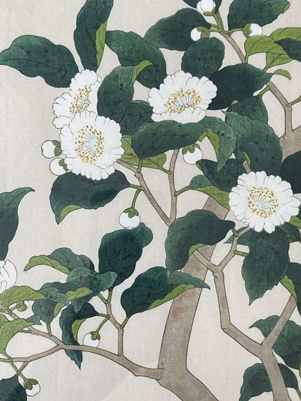 Japanese Woodcut Print Nisaburo Ito Tea Tree(u-253)