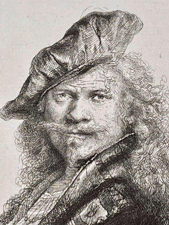 Rembrandt etching self portrait by Armand Durrand