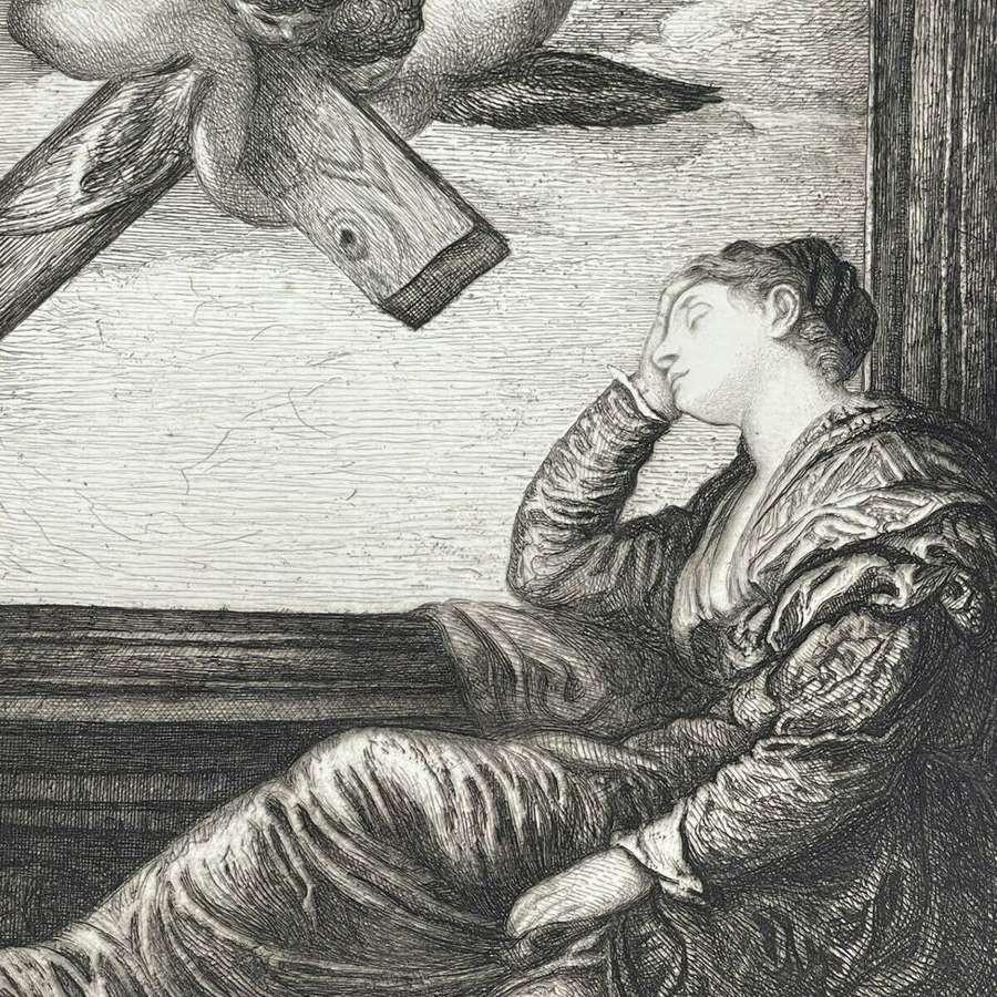 Paul Veronese The Dream of Saint Helena 1884 etching.