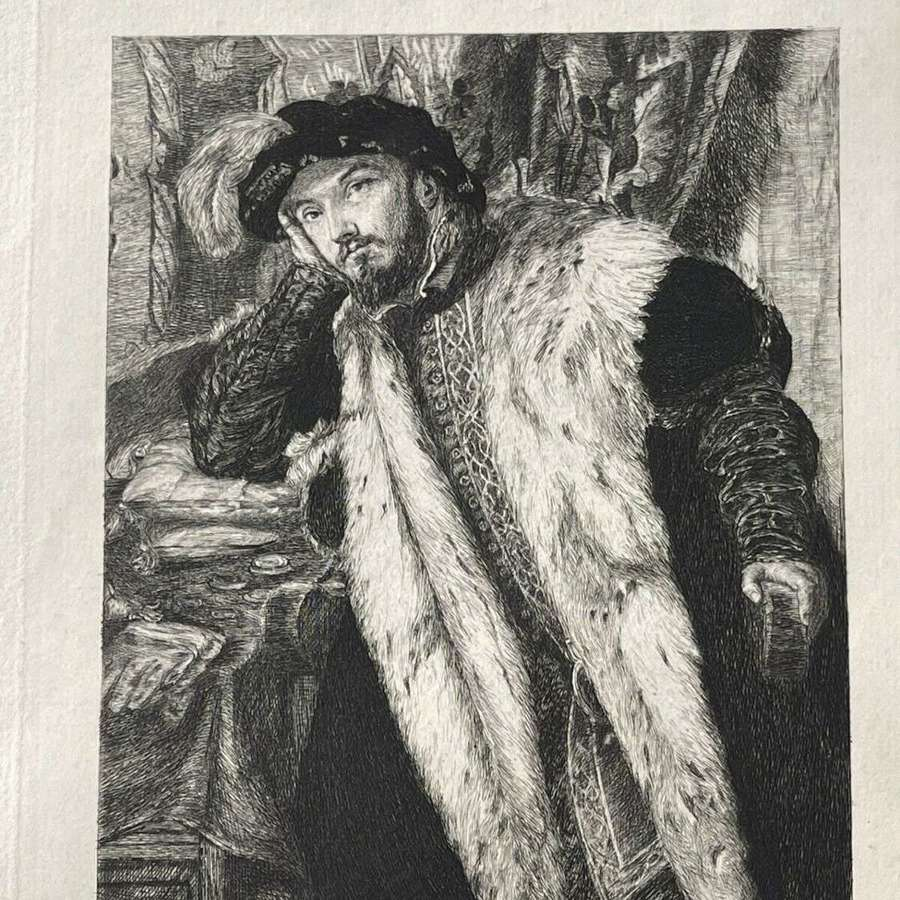 Portrait Of A Young Man By Moretto Etching 1875