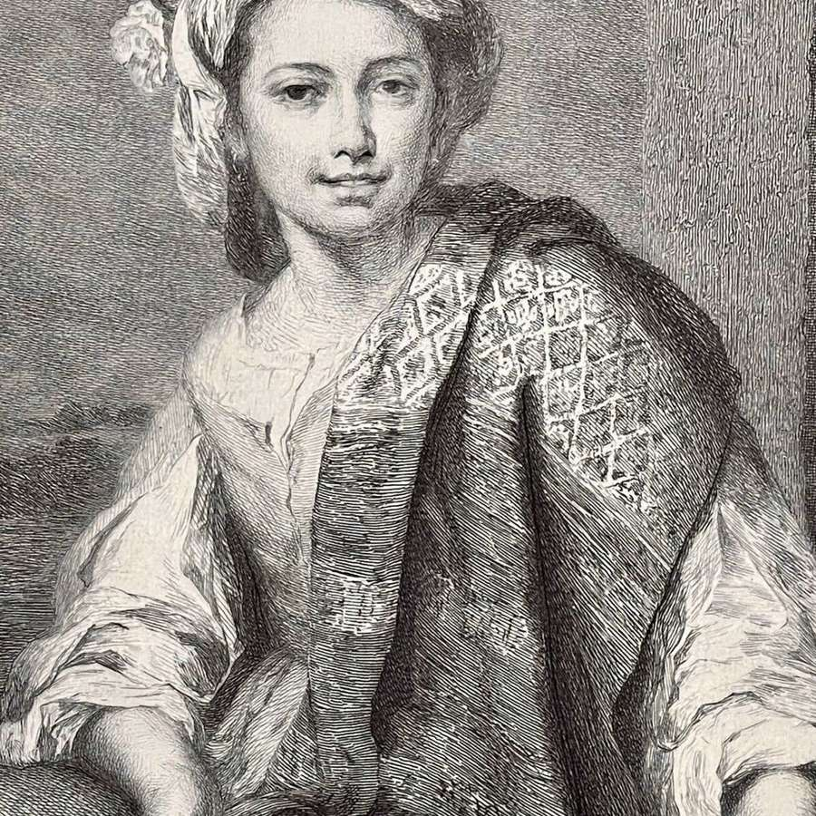 After a painting by Murillo. Etched by Paul Adolphe Rajon.
