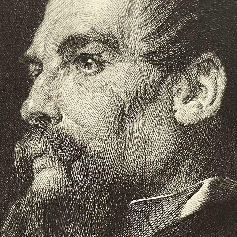 SirRichard Francis Burton Etching Frederick Leighton.