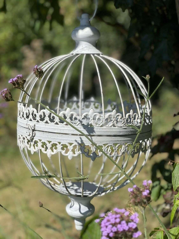 French style hanging globe planter Large