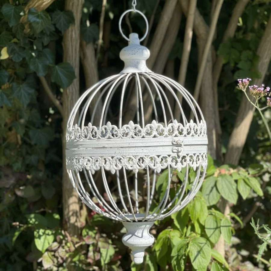 French style hanging globe planter small