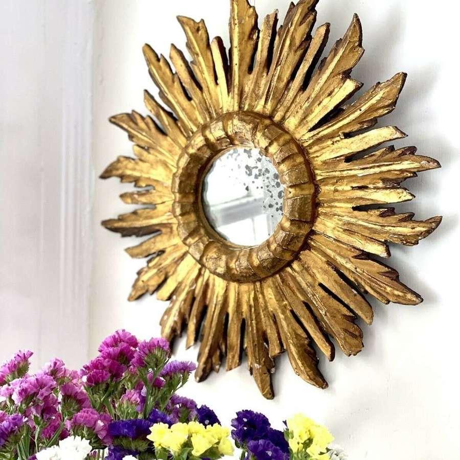 Italian starburst gilt mirror