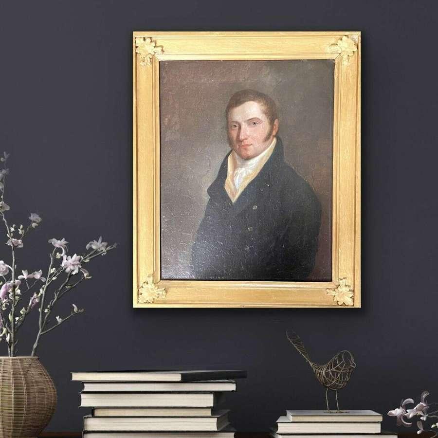 Fine Regency portrait of a Gentleman
