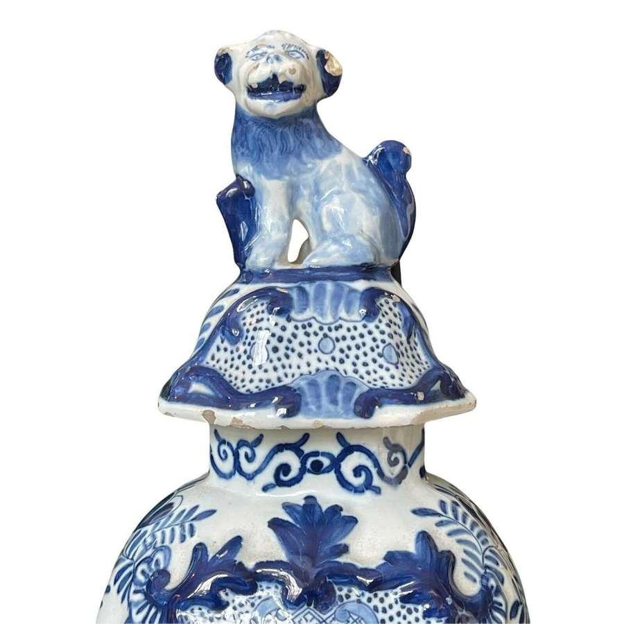 18th century Delft Tin glaze Lidded Jar