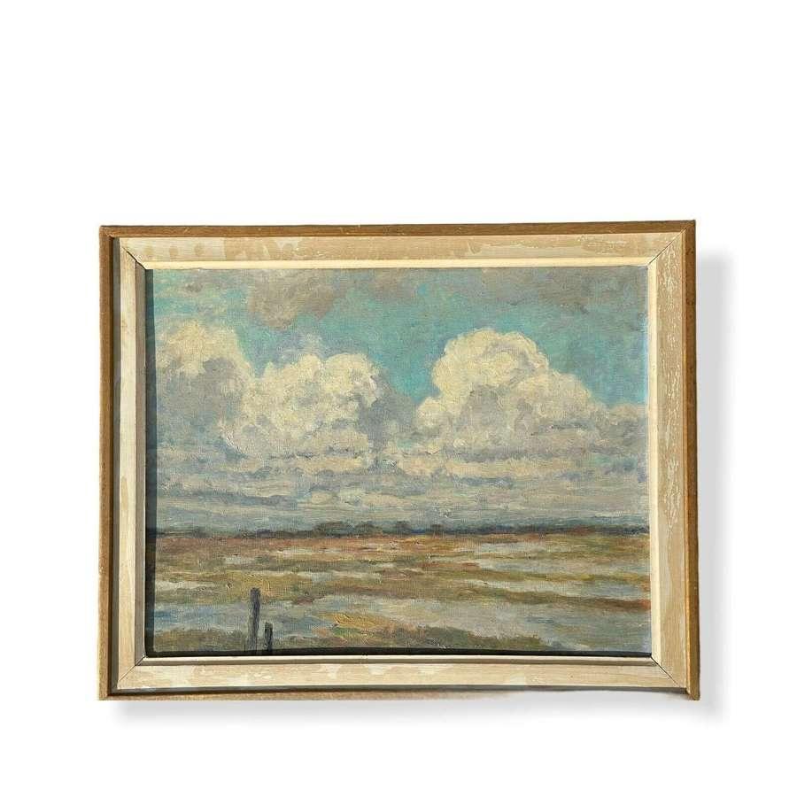 Landscape oil painting school of Edward Seago